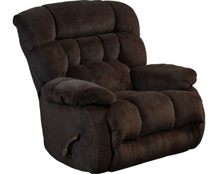 Daly Chaise Rocker Recliner in Chocolate