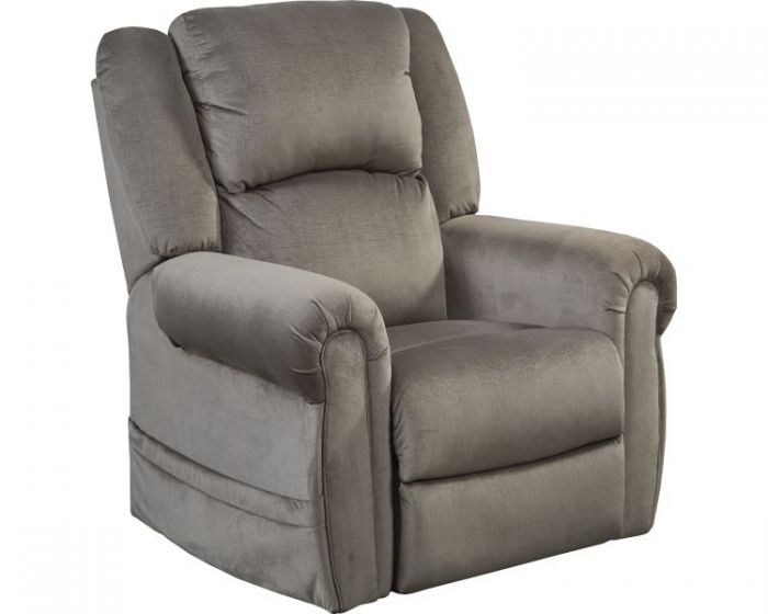 Power Headrest Power Lift Lay Flat Recliner in Pewter