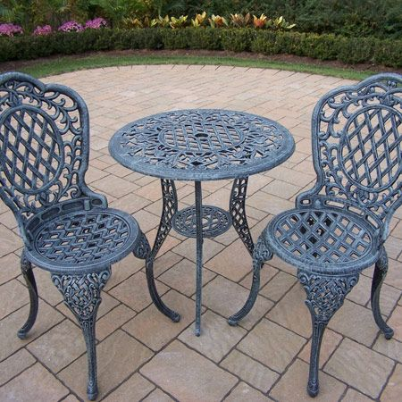 Mississippi 3 piece bistro set with 2 chair patio bistro for Outdoor furniture 0 finance
