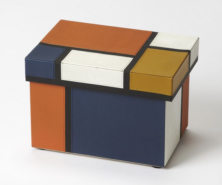 Mosaic Leather Storage Box Accent Furniture Accents