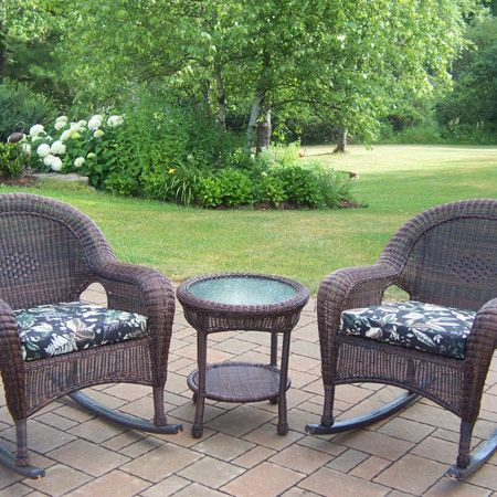 resin wicker 3 piece rocker set outdoor pub tables