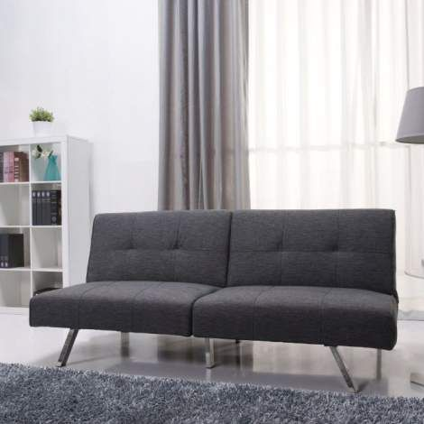 Victorville foldable futon sofa bed in gray for Affordable furniture victorville ca