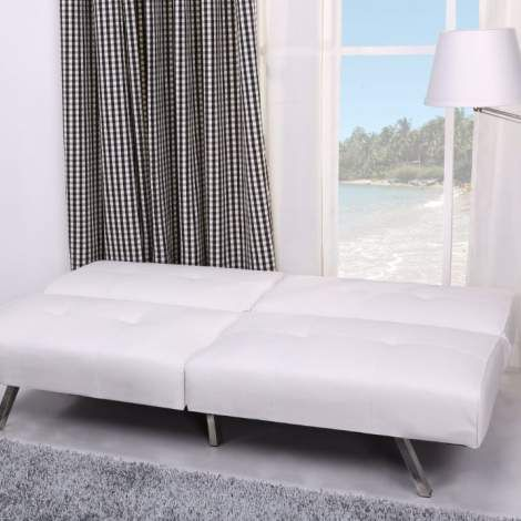 Victorville foldable futon sofa bed in white living room for Affordable furniture victorville ca