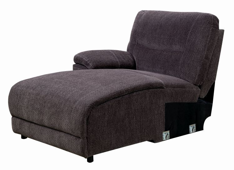 Seren chenille fabric recliner sectional with chaise for Chenille fabric sectional sofa chaise lounge