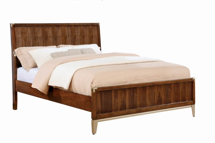 Anetta Corner Metal Accent Cal King Platform Bed California King Beds Beds Bedroom