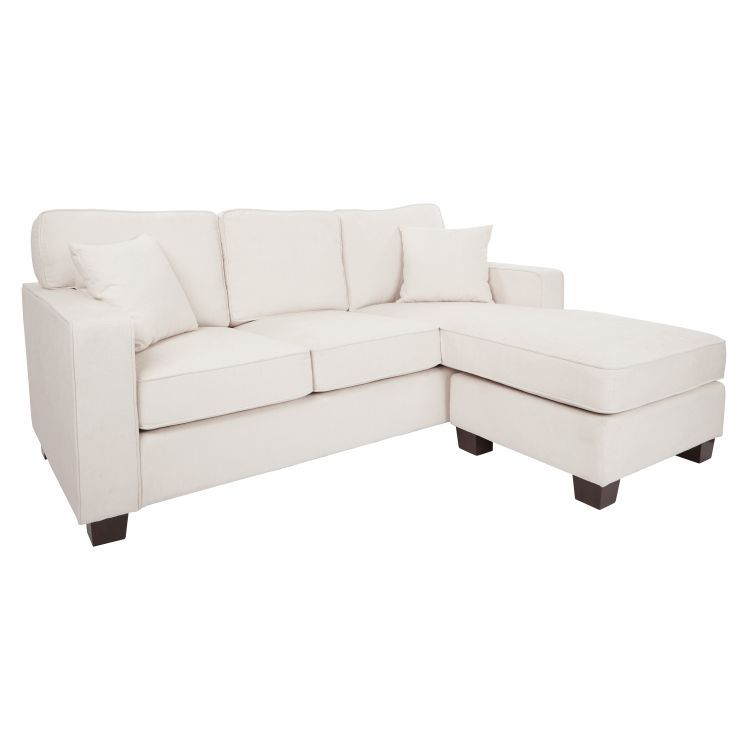 Russell Sectional In Ivory With Coffee Finished Legs Sectionals