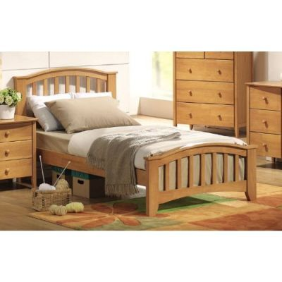 San marino full bed in maple kids beds kids youth for Furniture rent to buy