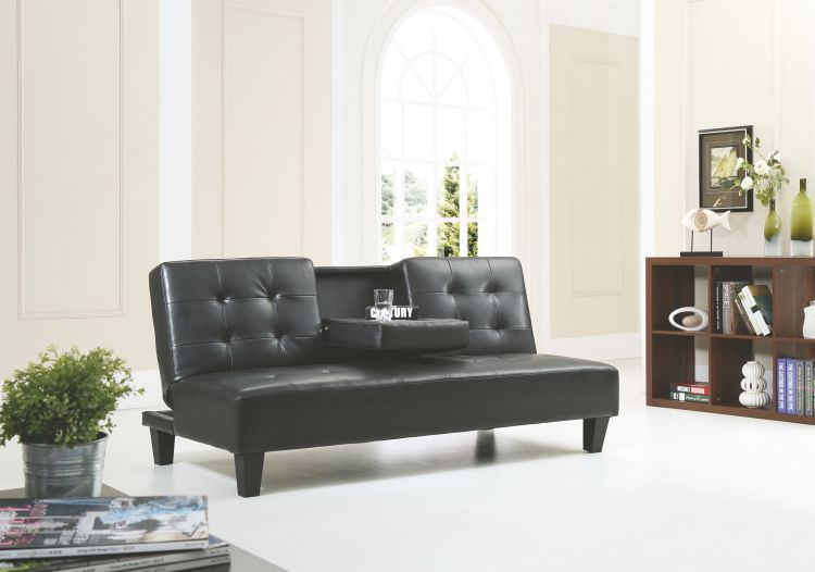 Black Sofa Bed With Cup Holder