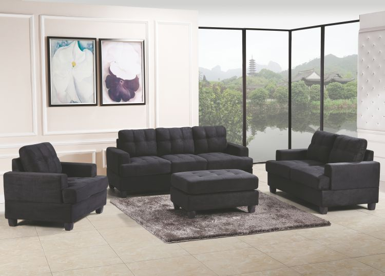 sofa in black suede sofas living room seating living