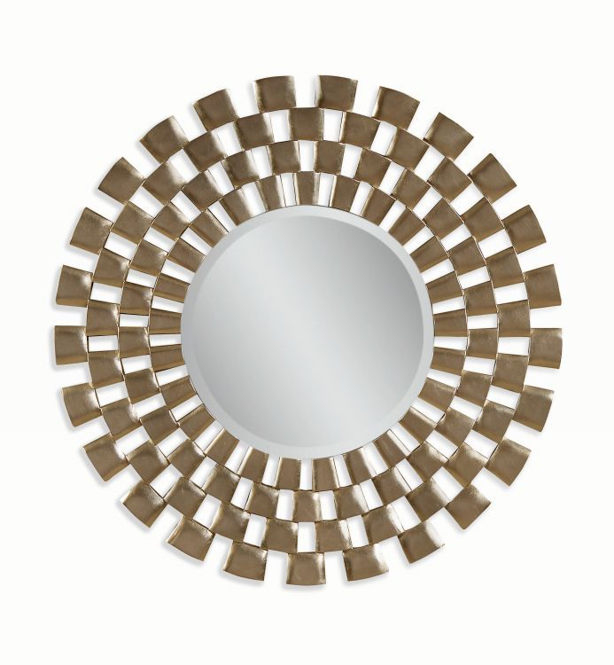 chequers wall mirror in silver leaf