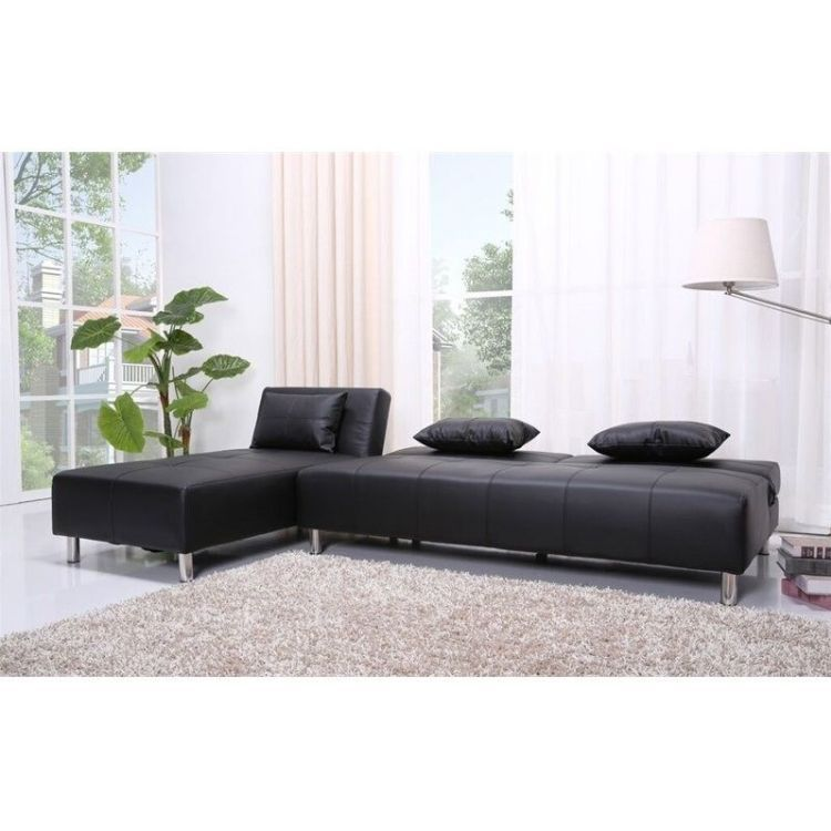 Atlanta convertible sectional sofa bed in black Sofa beds atlanta