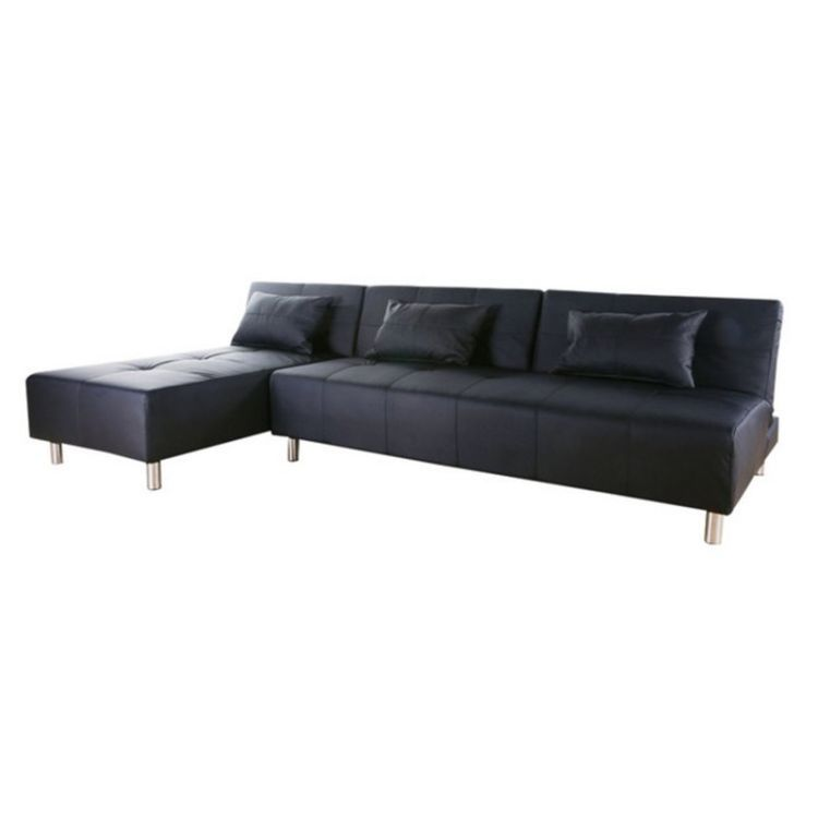Atlanta convertible sectional sofa bed in black living room for Atlanta convertible sectional sofa bed