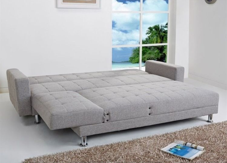 Frankfort Convertible Sectional Sofa Bed in Ash - Sectionals ...