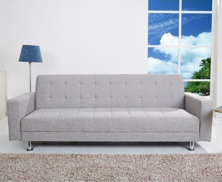 Frankfort Convertible Sectional Sofa Bed in Ash