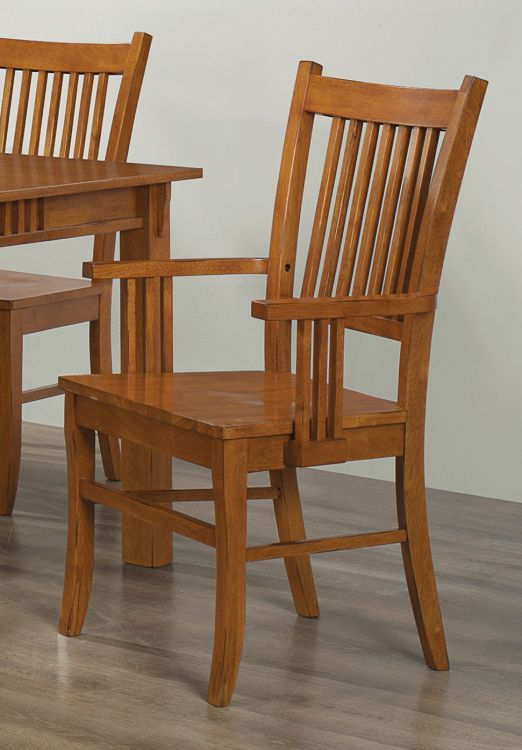 Marbrisa slat back medium brown side chair set of 2 for Furniture rent to buy