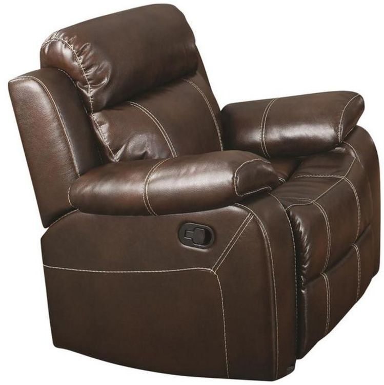 ... Myleene Coffee Color Motion Recliner Chair
