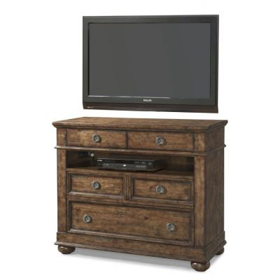 Southern Pines Bluff Media Chest in Brown - 012013294581