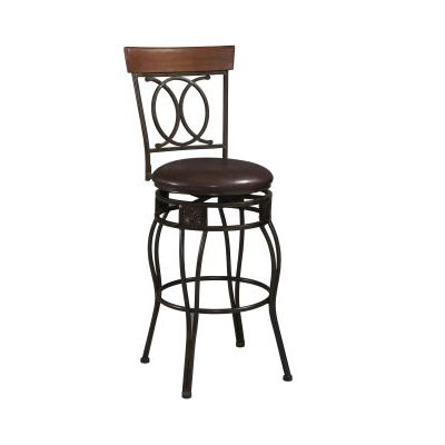 Salina 24'' Counter Bar Stool with Swivel - 02564MTL-01-KD-U