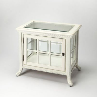 Chopin Cottage White Side Chair Curio - 339222