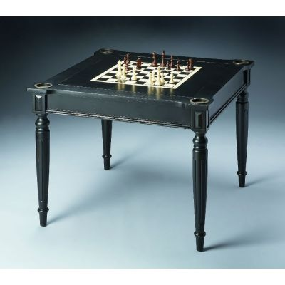 Vincent Black Licorice Multi-Game Card Table - 837111