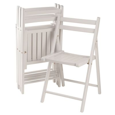 Robin 4 piece Folding Chair Set in White - 10415