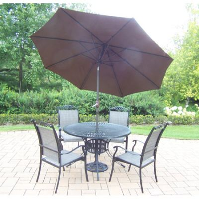 Cascade 7 Piece  Dining Set With Cast Aluminum Table
