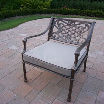 Tacoma Cast Aluminum Deep Seat Club Arm Chair With Cushion - 1121-OM-AB