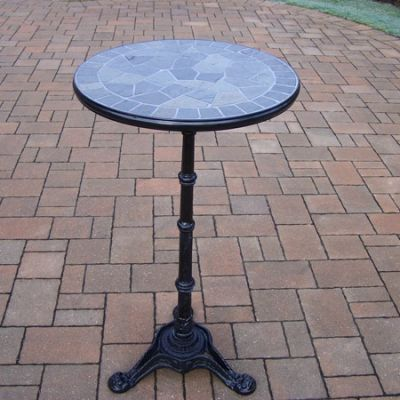 24-Inch Bar Table With Authentic Stone Formed Top - 1128-BT