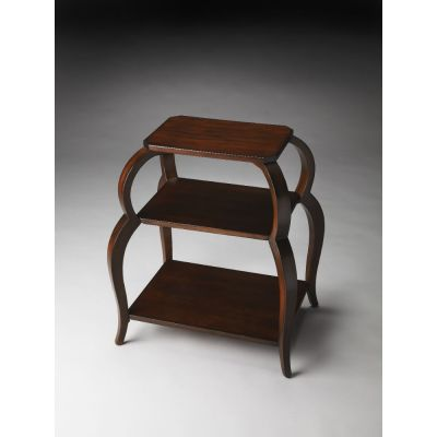 Shelby Plantation Cherry Tiered Side Table - 1133024
