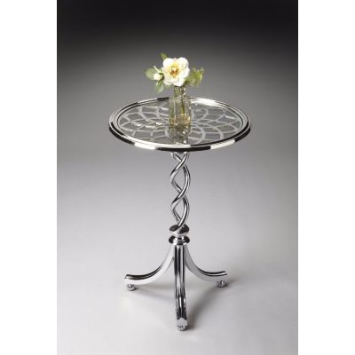 Isidora Modern Accent Table with Tempered Glass Top - 1169260