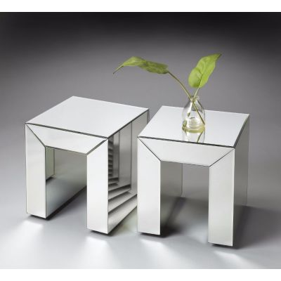 Mitered Mirrored Bunching Table - 1190146