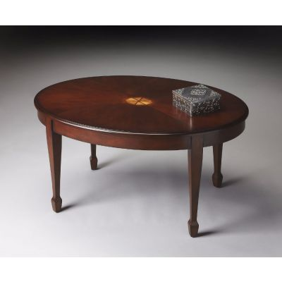 Clayton Plantation Cherry Oval Cocktail Table - 1234024