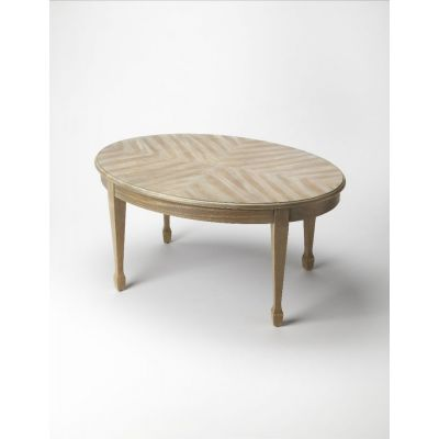 Clayton Driftwood Oval Cocktail Table - 1234247