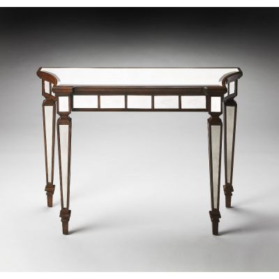 Garbo Mirror And Mahogany Console Table - 1251299