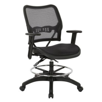 Deluxe Ergonomic AirGrid Drafting Chair with Arms - 13-77N30D15