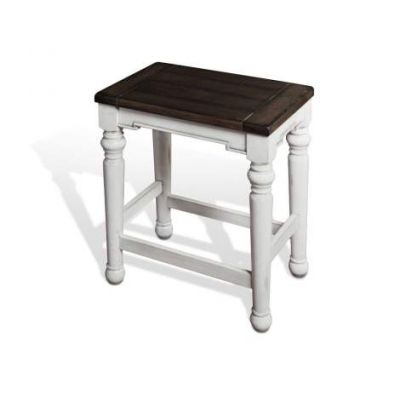 Backless Stool with Wood Seat, 24