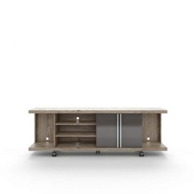 Carnegie TV Stand in Natue and Onyx - VEN039-14568