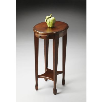 Arielle Chestnut Burl Accent Table - 1483108