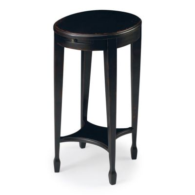 Arielle Plum Black Accent Table - 1483136
