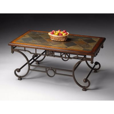 Sante Fe Slate-Inlay Cocktail Table - 1574025