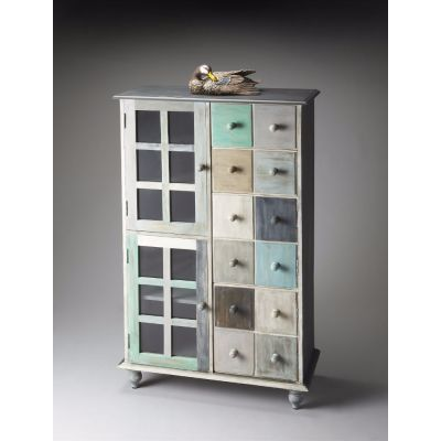 Contemporary Seaside Apothocary-Style Cabinet - 1781290