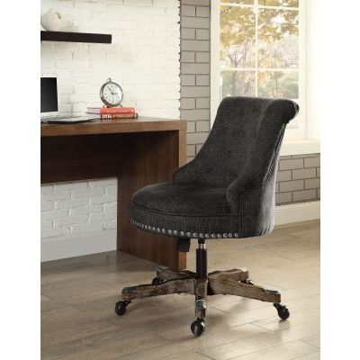 Sinclair Office Chair Green in Dark Walnut Wood Base - 178403GRN01U