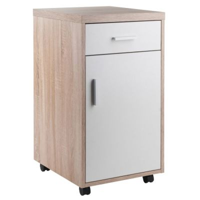 Kenner Storage Cabinet Reclaimed Wood/White Finish - 18220