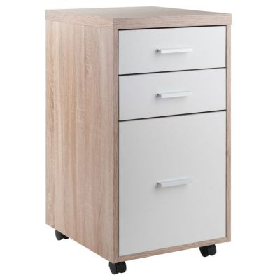 Kenner File Cabinet Reclaimed Wood/White Finish - 18316