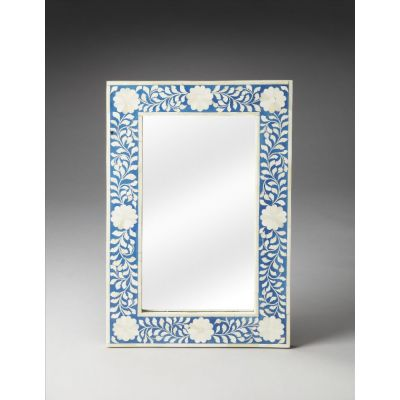 Olivia Blue Bone Inlay Wall Mirror - 1855070