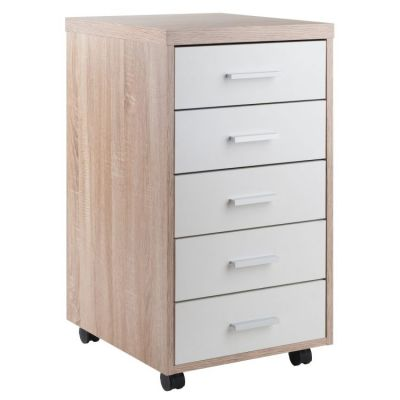 Kenner Storage Cabinet Reclaimed Wood/White Finish - 18556