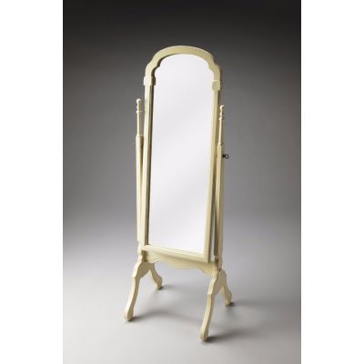 Meredith Cottage White Cheval Mirror - 1911222