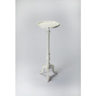 Chatsworth Cottage White Pedestal Plant Stand - 1931222