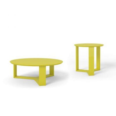 Madison 2-Piece Accent Table Living Room Set in Lime Gloss - VEN039-2-8505585155