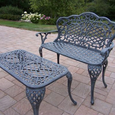 Mississippi Loveseat Settee Bench & Cocktail Table Set - 2006-2007-2-VGY
